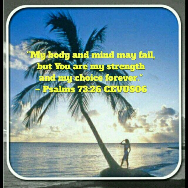 Today's Scripture verse is taken from Psalms 73:26 CEVUS06.