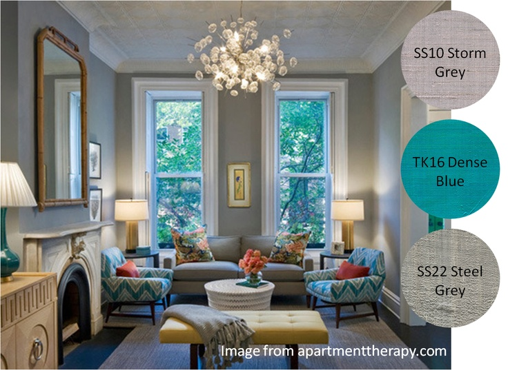 grey and teal house decor