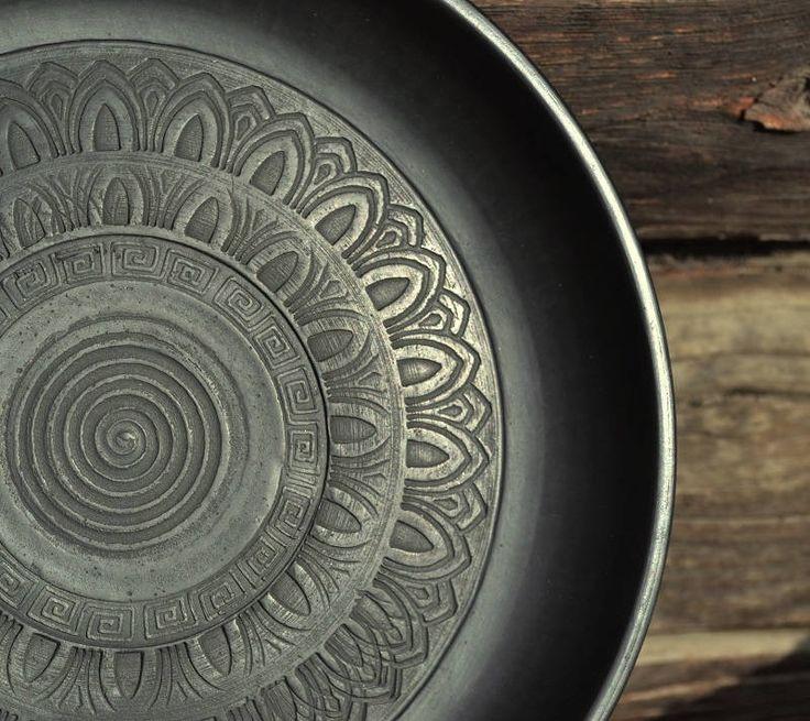 Ceramic dish   Dish with ornament   Ceramic plate   Handmade dish   Ceramic kitchenware   Eco product   Pottery dish   Handmade plate by ArtPotteryBaiTerek on Etsy