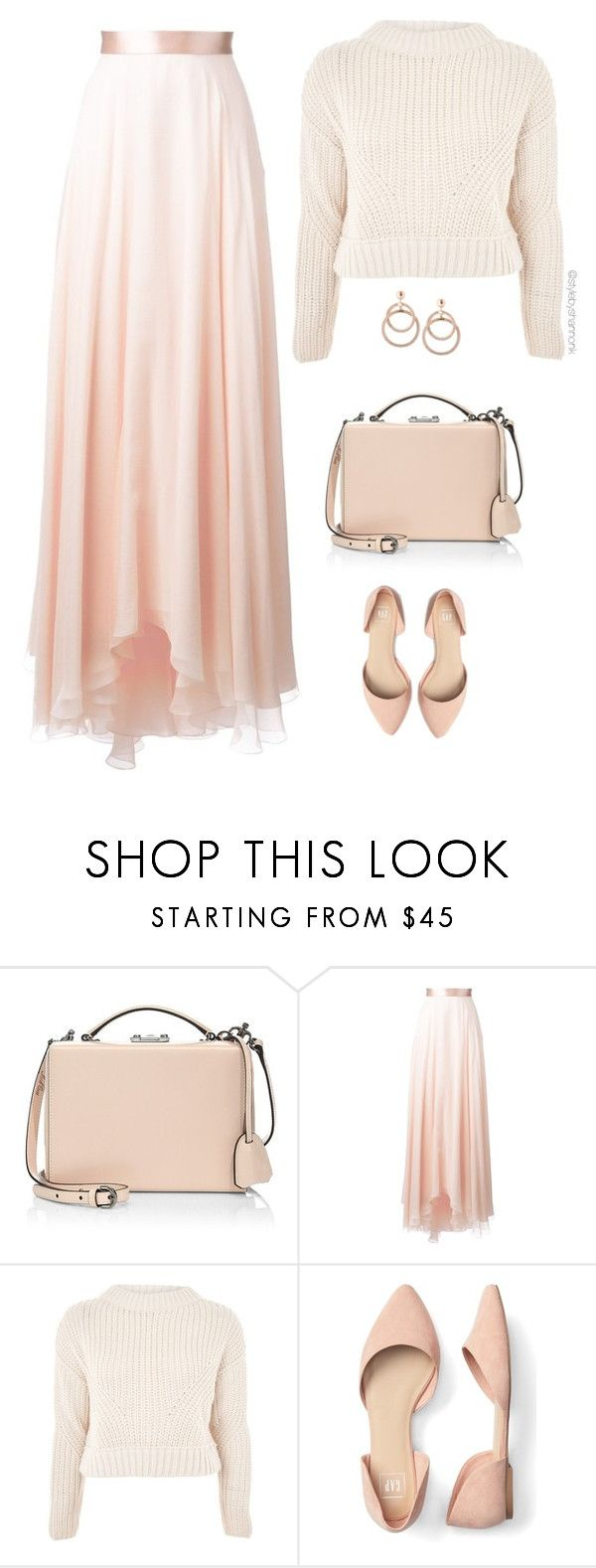 """Fall Blushes: Long Skirt"" by stylebyshannonk on Polyvore   #polyvore #longskirt #blushtones #fallfashion #fallstyle #croppedjumper #topshop #jumper #sweater #maxiskirt #flats #boxshoulderbag #boxpurse #shoulderbag #hoopearrings #dropearrings"