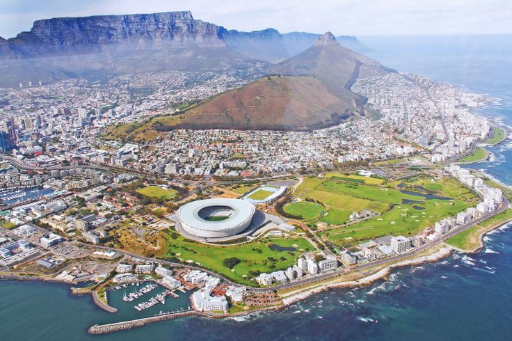Airial view of the City of Cape Town, South Africa
