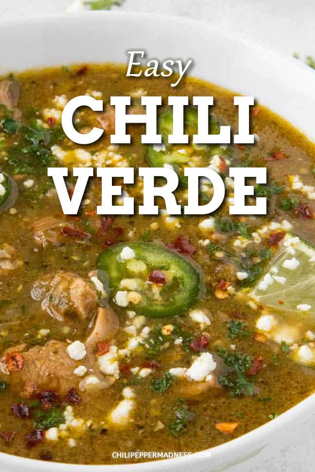 Pork Chile Verde Mexican Dinner Recipes Mexican Food Recipes Chili Verde