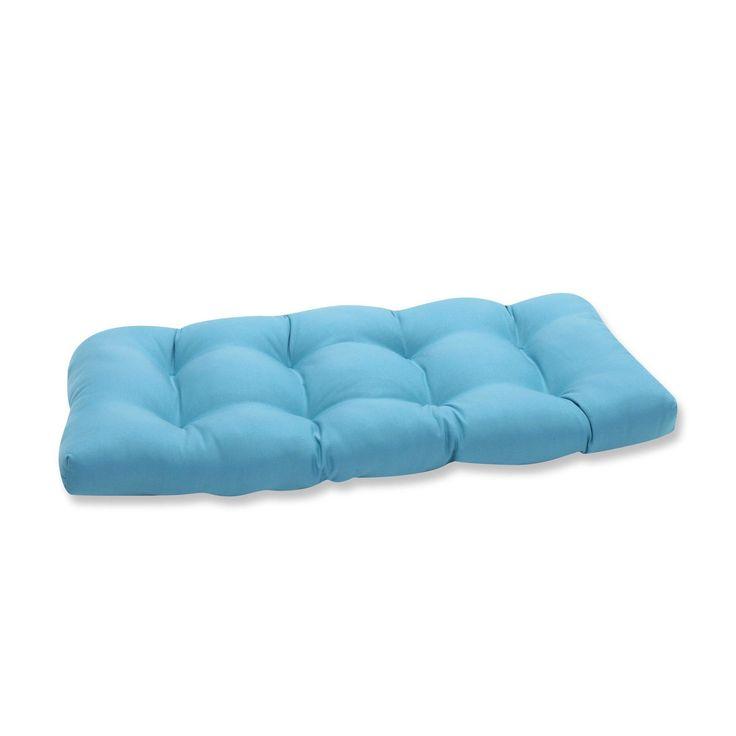 Tweed Outdoor Loveseat Cushion