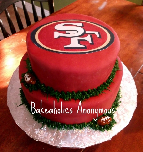 San Francisco 49ers Cake by twilightzonejude on Cake Central