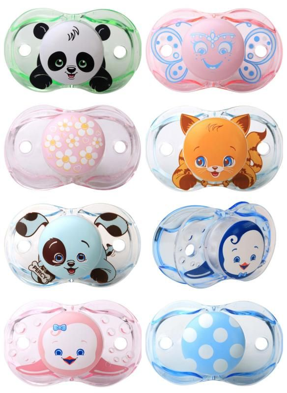 Ridiculously cute self-closing pacifiers for babies. They actually work!