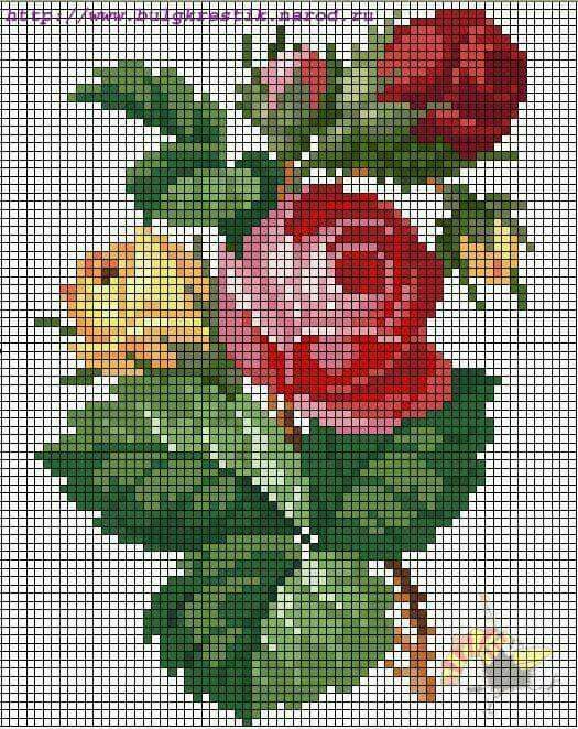 1000 Images About Cross Stitch Roses On Pinterest Blue