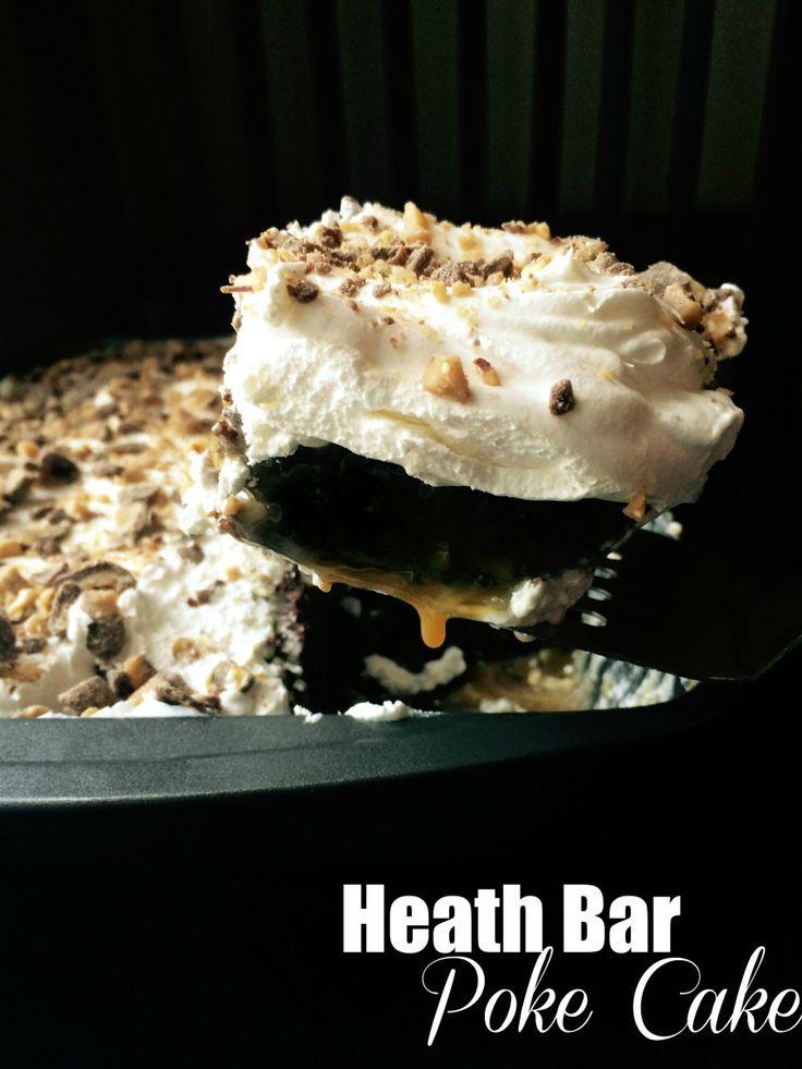 Heath Bar Poke Cake | Aunt Bee's Recipes