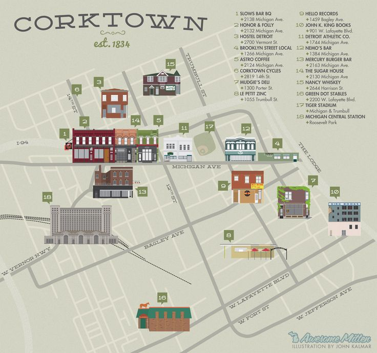 Detroit's Corktown Neighborhood - The Awesome Mitten