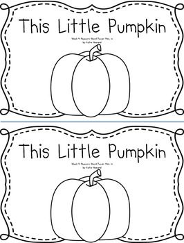Pumpkin Predictable, Rhyming Emergent Reader Book: