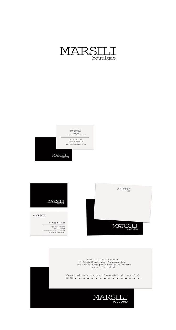 Marsili Boutique, Brand Design ─ Giulio Patrizi Design Agency ©   #branding #brand #identity #corporate #design #graphic