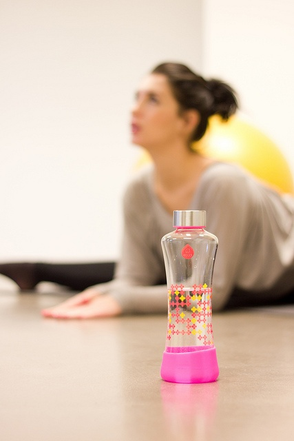 EQUA exercising, via Flickr. #yoga #yogabottle #glassbottle