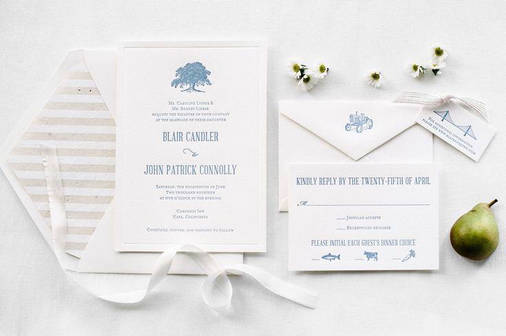 Aerialist Press | Elegant Outdoor Napa Custom Letterpress Invitation Suite | About our custom process #custom #letterpress #invitation