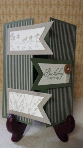 I used Stampin' Up Wetlands set for Brian's birthday card...love it!
