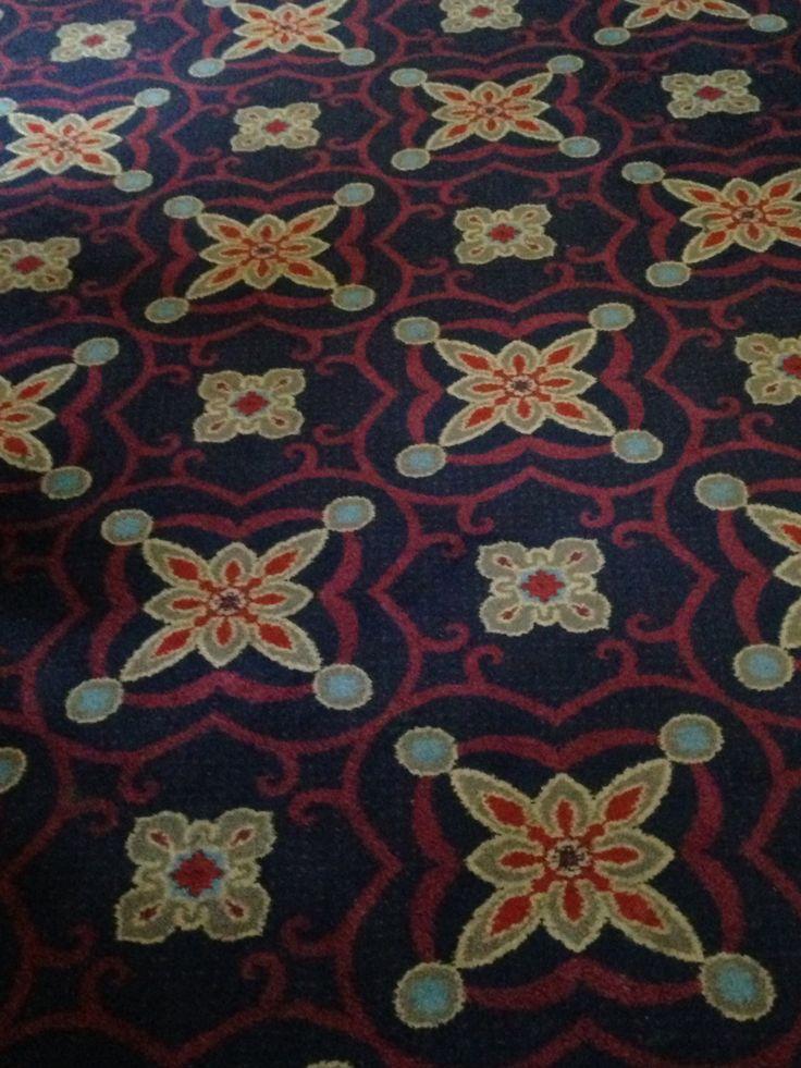 Masque Haunt pub carpet, Old Street, London.