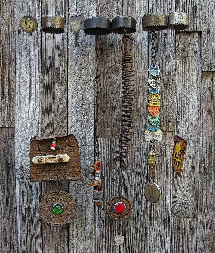 17 best images about junk garden decor on pinterest for Homemade chimes
