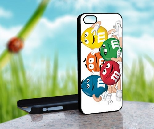 M and M Chocolate Candy - Print on Hard Cover For iPhone 4,4S