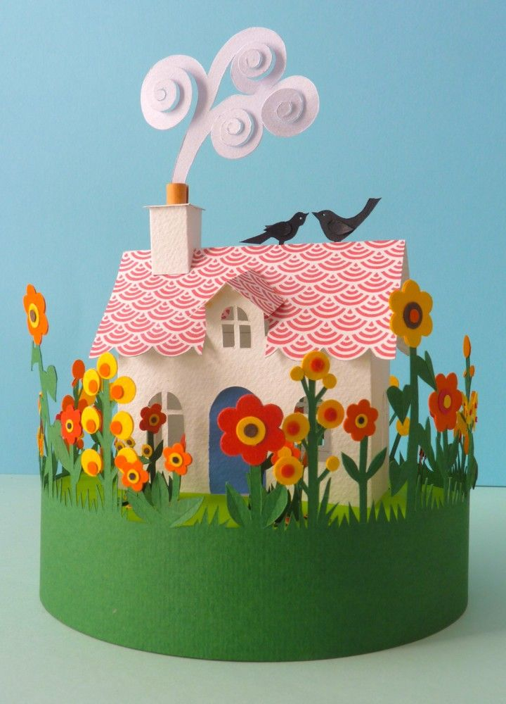 Helen Musselwhite : Art and Illustration - Glass Domes seriously? the chimney smoke? it's killing me how cute it is.