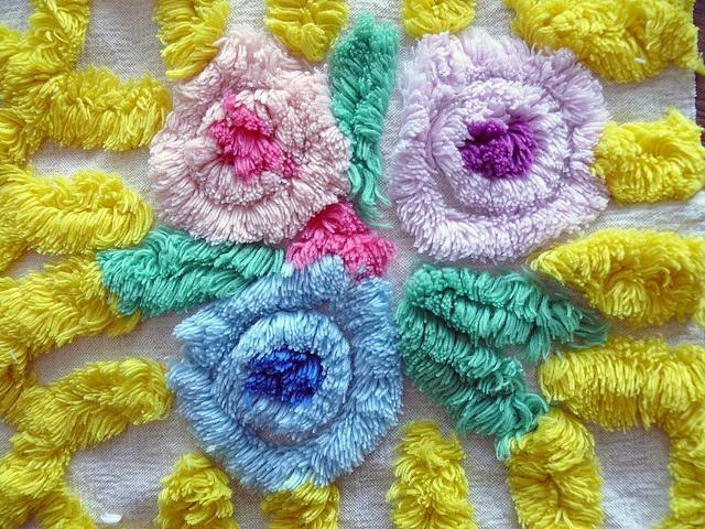 Vintage синели Posie Цветы - вкусный...