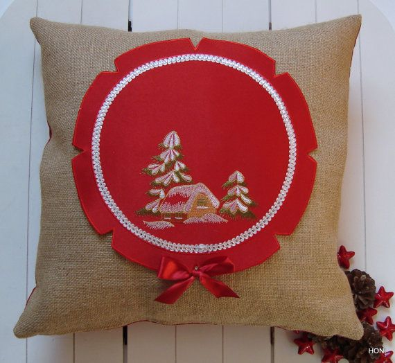 "Pillow jute"" CHRISTMAS """