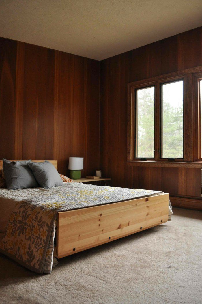 Schlafzimmer ideen wandgestaltung holz  Die besten 25+ Wandpaneele holz Ideen auf Pinterest | Wandpaneele ...