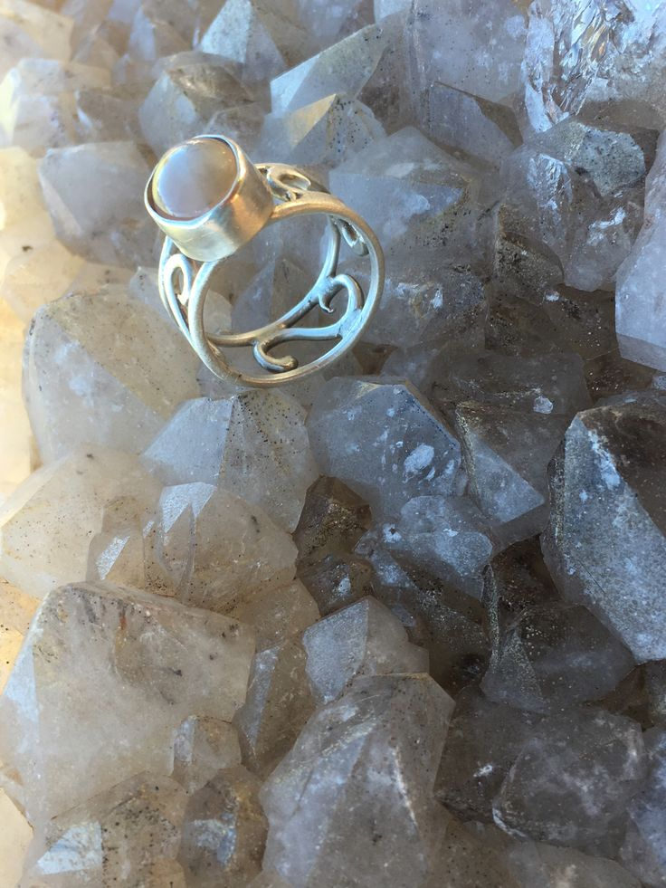 Moonstone ring made on a full moon