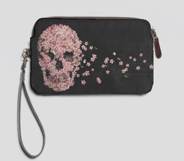 VIDA Leather Statement Clutch - Colorful Flowers on black by VIDA HtPl8w7hZ