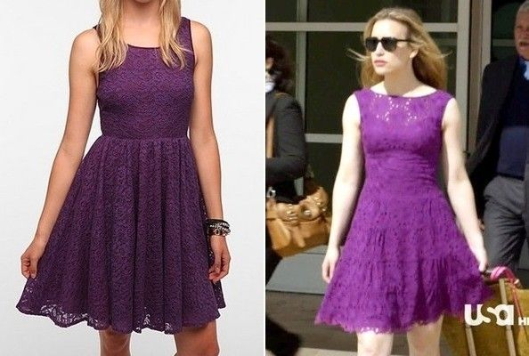 Purple lace dress covert affairs