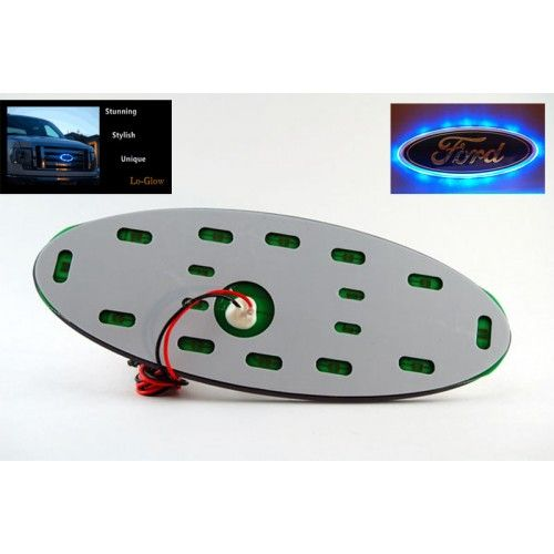 "Blue SMD LED 7"" Ford Oval Emblem Lighting Accessory"