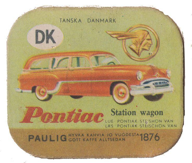 En nostalgitripp fram till jul med hjälp av Pauligs bilkort från mitten av 1900-talet. Pontiac #cars #vintage