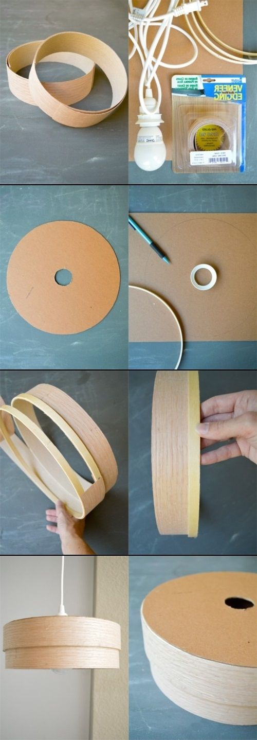 DIY Wood Veneer Pendant Lamp is simple & chic!   facebook.com/JOC.LightCollection