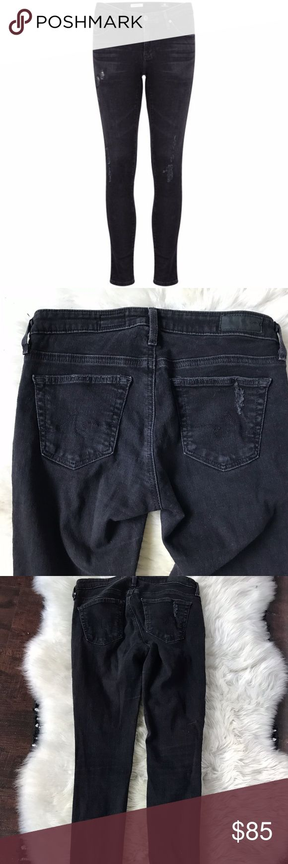 "AG Adriano Goldschmied Legging Ankle Jeans 25 AG Adriano Goldschmied Legging Ankle Jeans in Emerse SZ 25  Only worn a few times.   98% cotton , 2% elastane 12"" in the knee narrows to 10"" at the leg opening Slightly distressed areas Ag Adriano Goldschmied Jeans Skinny"