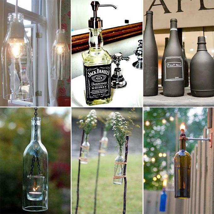 25 beste idee n over lege flessen op pinterest glazen fles fles en beschilderde flessen - Ad decoratie binnen ...
