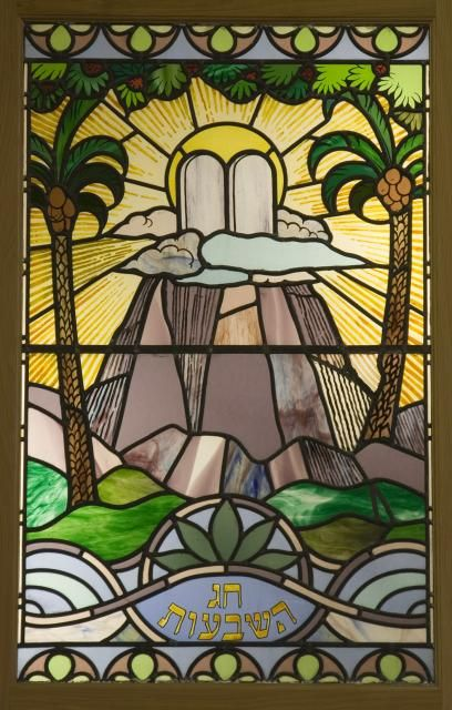 Pentecost from Jewish Festivals - image from Stained Glass in Wales