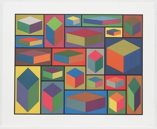 Sol LeWitt (American, 1928–2007); Distorted Cubes (B) from Distorted Cubes (A-E); 2001
