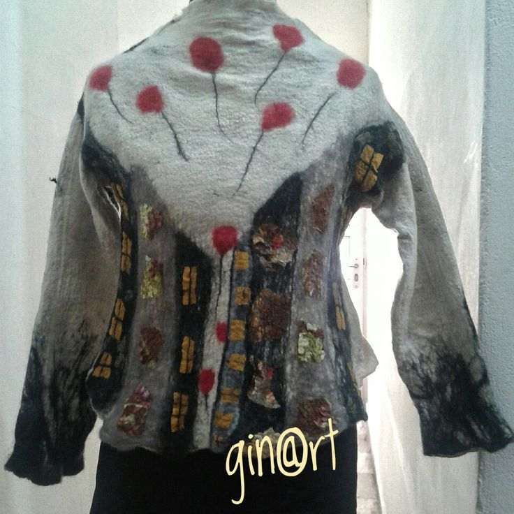 Nuno felted blouse
