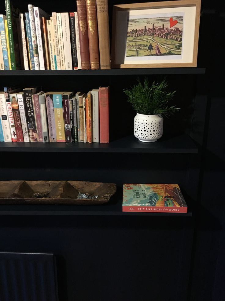 Our new  snug / study. Went with Little Greene's Basalt on walls and just love the finish.