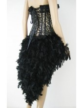 Black Burlesque Feather Bustle