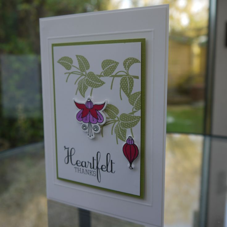 Clearly Besotted - Fuschia Card