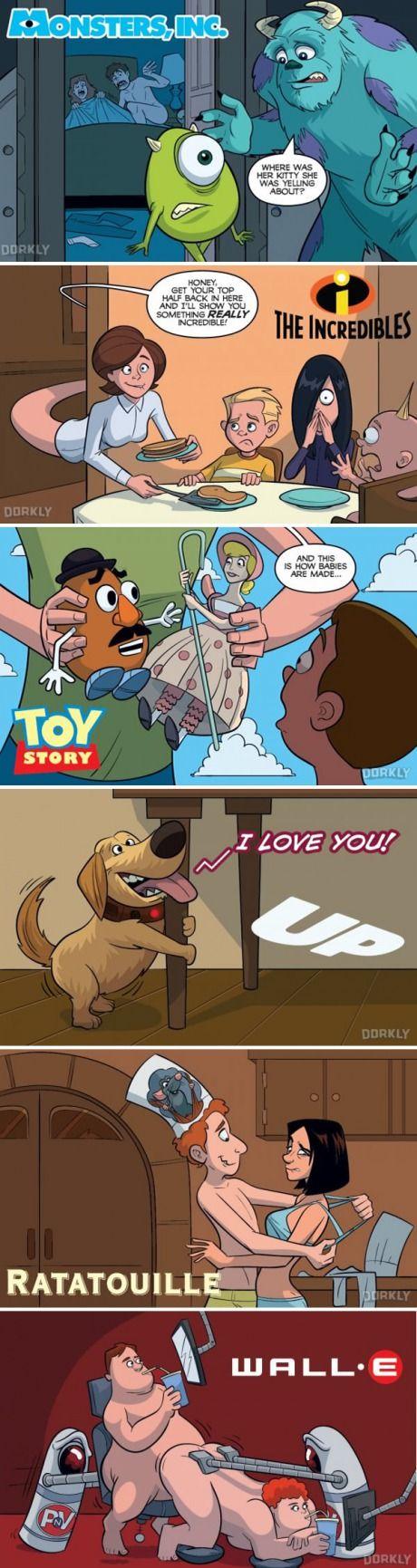 6 escenas que probablemente sucedieron en las películas de Pixar