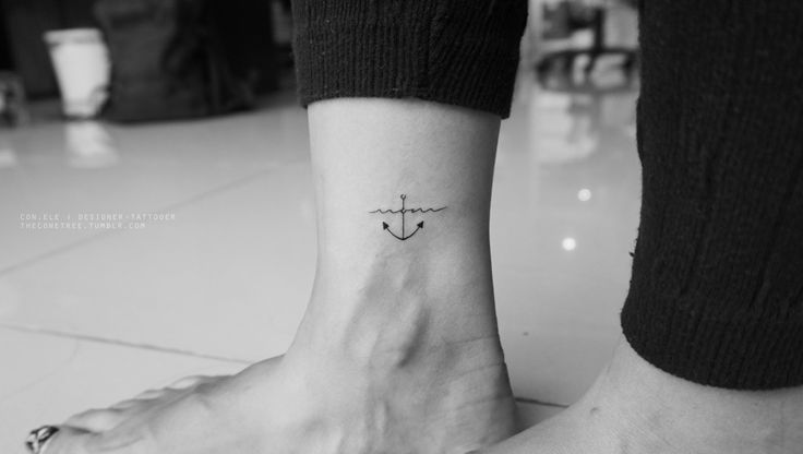 1st tattoo:Ciara wanted a small simple anchor tattoo at her ankle with the word 'mom'. I designed the word 'mom' looking like a wave that supports the anchor from sinking. Mom will always support and carry the burdens of her child no matter what.2nd tattoo:'Sonas' - an irish word means happiness + goodluck. http://instagram.com/conlll http://www.facebook.com/conetree