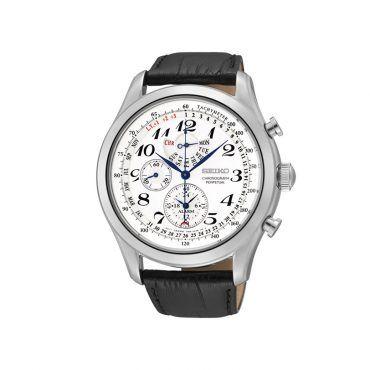 SPC131P1 Ανδρικό σπορ ρολόι SEIKO με λευκό καντράν, ταχύμετρο, διαρκές ημερολόγιο στεφάνη & λουρί | SEIKO ρολόγια ΤΣΑΛΔΑΡΗΣ στο Χαλάνδρι #Seiko #ημερολογιο #ασπρο #λουρι #ρολοι