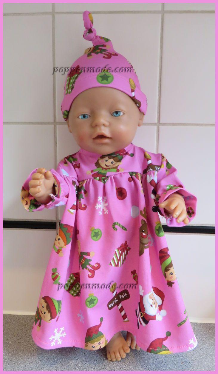 Nachtpon met mutsje voor babyborn