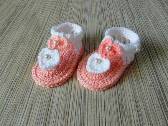Crochet Baby Booties - Crochet Baby Sandals - Baby Sandals