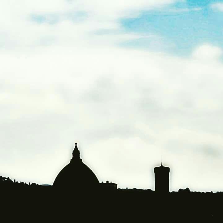 Skyline dagli orti del Parnaso. Firenze