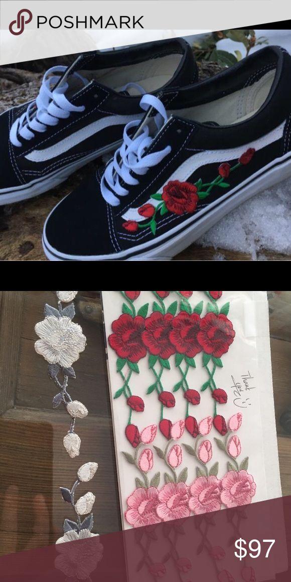 embroidered vans rose uk