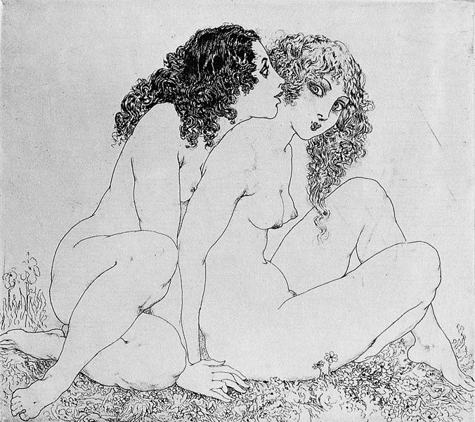 Norman Lindsay - Sisters (etching) [676x600]
