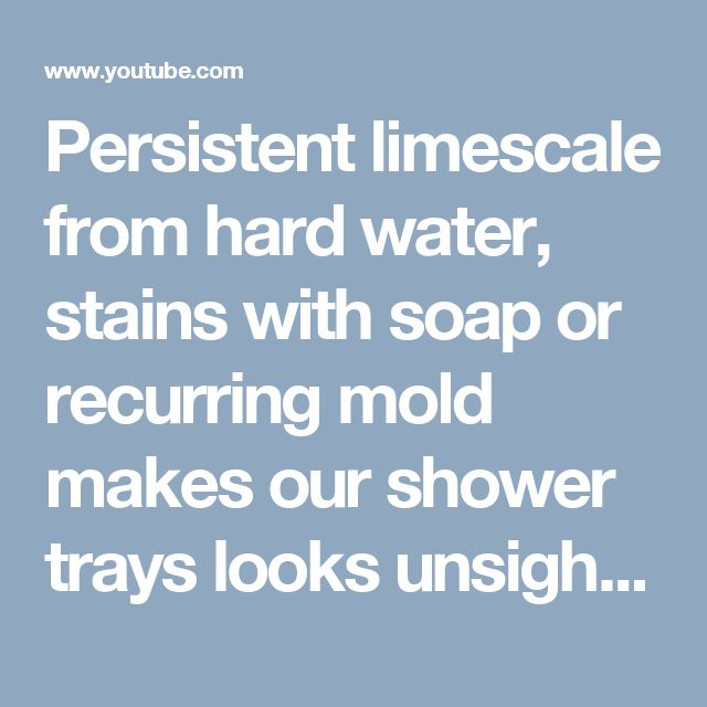 Persistent limescale from hard water, stains with soap or recurring mold makes our shower trays looks unsightly. Thanks to a specially prepared care instruction its extremely easy and completely safe to bring our shower tray its perfect look! See video tutorial prepared in 4 languages on our YouTube channel.