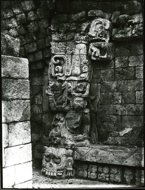 Alfred Maudslay (British, 1850-1931)  Photographs of Mayan Ruins before excavation, circa 1890