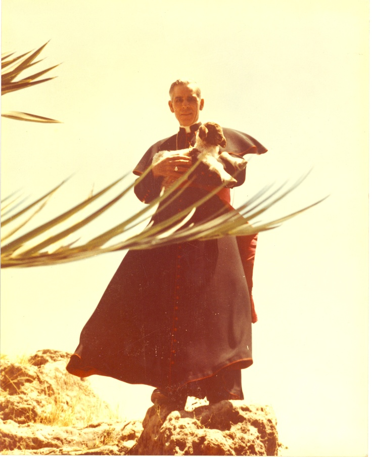 """As he offered his radio show for Palm Sunday 1951, then-Monsignor Fulton Sheen continued his journey through Lent with our Blessed Mother, speaking specifically on that broadcast of The Catholic Hour about the Wedding Feast of Cana. In telling His Mother, """"my hour has not yet come,"""" Jesus was letting Mary know that what she was asking Him to do was to begin the road to the Cross, then-Monsignor Sheen explained. http://www.onefamilyinmission.org/society-propfaith/lent-in-focus.html?start=18"""
