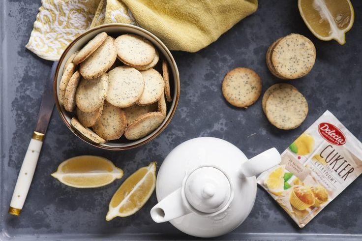 Herbatniki cytrynowe z makiem #delecta #ciasteczka #lemon